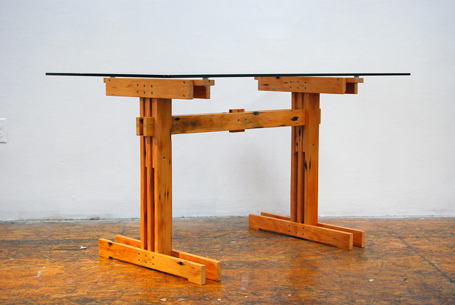 Plank Trestle Table 14