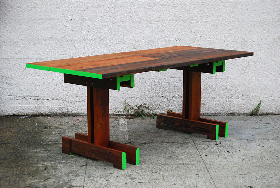 Plank Trestle Table 17