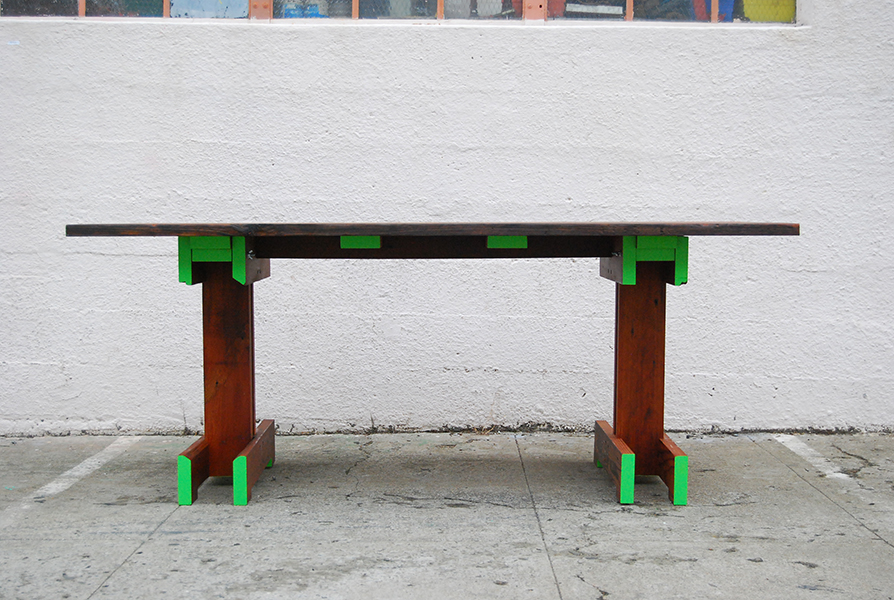 Plank Trestle Table 18