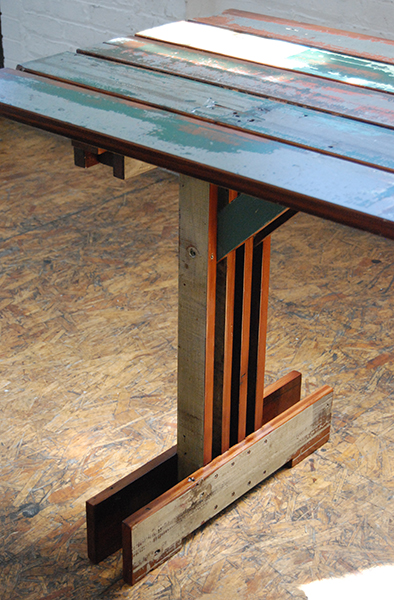 Plank Trestle Table 6