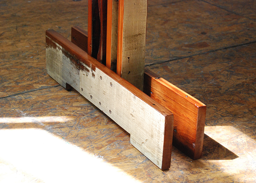 Plank Trestle Table 7