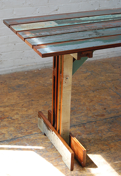 Plank Trestle Table 8