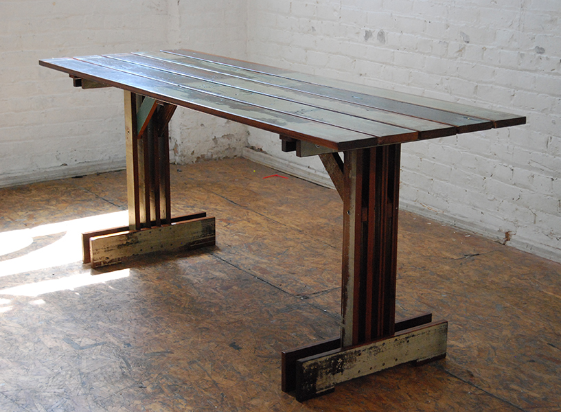 Plank Trestle Table 9