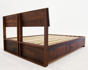 Walnut Storage Bed