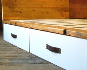 Waxed White Pine Bin Bed