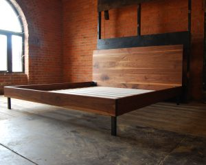 Walnut Ten Degree Bed