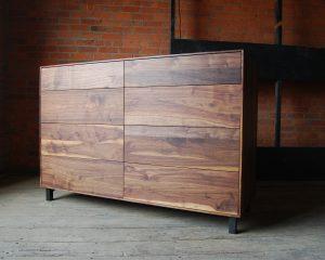 Flat Front Walnut Dresser