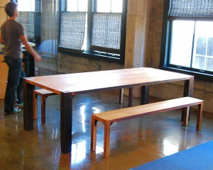 Gusset Table and Benches
