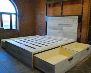 Bleached Redwood Bin Bed