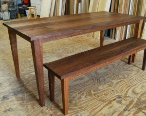 Taper Table and Bench