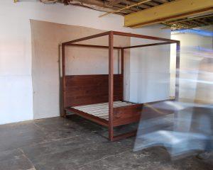 Walnut Canopy Bed