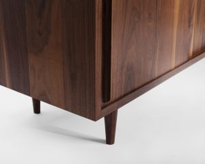 Two Door Walnut Media Cabinet